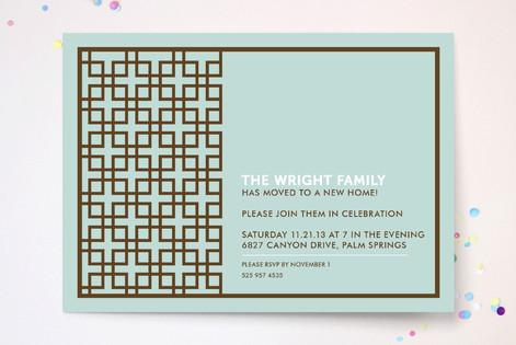 Treillis Moderne Party Invitations