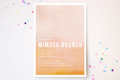 Ombre Party Invitations