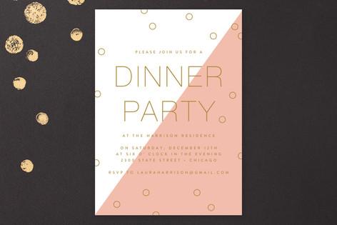 Modern Confetti Party Invitations