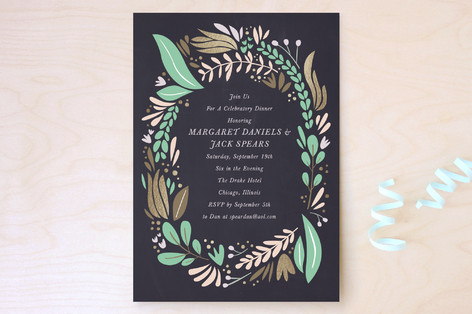 Formal Florals Party Invitations