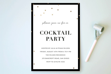 Gold Confetti Party Invitations