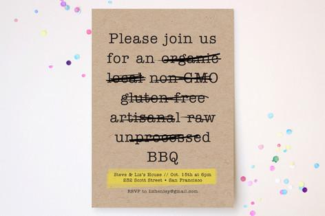 Buzzword - Free BBQ Party Invitations