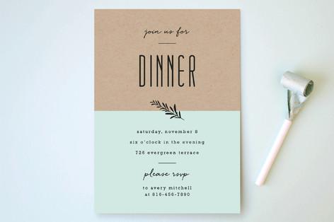 Farm To Table Menu Party Invitations
