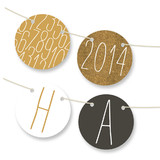 New Year&#039;s Table Tents Bunting Banners