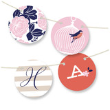 Pretty Thaumatrope Bunting Banners