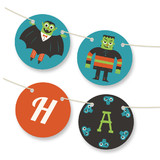 Monster Halloween Bunting Banners