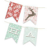 Vintage Reindeer Bunting Banners
