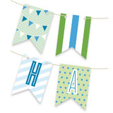 Blue Big Top Circus Bunting Banners