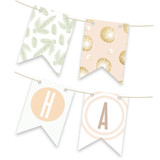 Rose Colored Glass Bunting Banners
