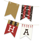 Red Velvet Revelry Bunting Banners