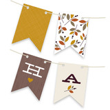 Foliage Thanksgiving Bunting Banners