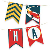 Vintage Race Car Bunting Banners
