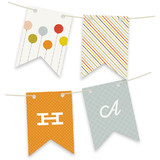 Colorful Balloons Bunting Banners