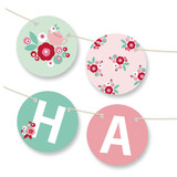 Retro Floral Garden Bunting Banners