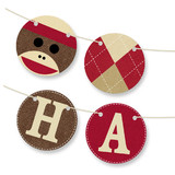 Sock Monkey Bunting Banners