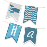 Big Whale Little Whale Bunting Banners