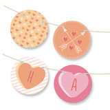 Conversation Heart Valentine Bunting Banners
