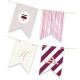 Red Velvet Bunting Banners