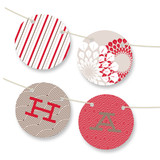 Patterned Floral Kraft Bunting Banners