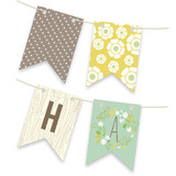 Wooded Blooms Bunting Banners