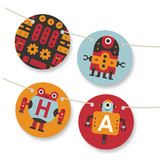 Robot Bleep Bleep Bunting Banners