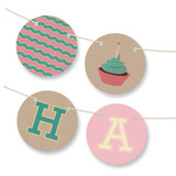 Girlie Cakes Bunting Banners