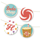 Soda Shop Bunting Banners