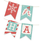 Holiday Stripes Bunting Banners