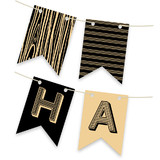Wood Grain Bunting Banners