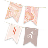 Modern Marble Personalizable Bunting Banners