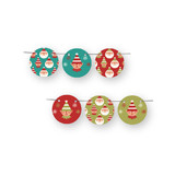 Happy Santa Circle Garlands