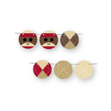 Sock Monkey Circle Garlands