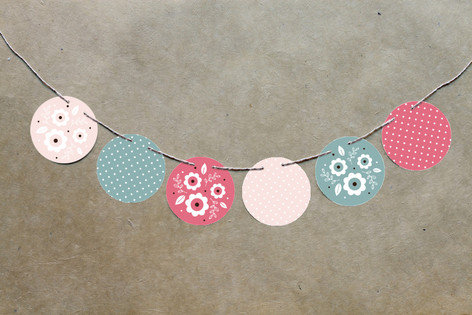 Blushing Owl Circle Garlands