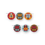 Robot Bleep Bleep Circle Garlands