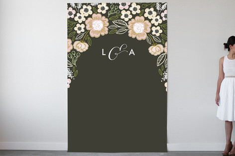 Botanical Wreath Personalizable Photo Backdrops