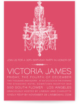 Chandelier Birthday Party Invitations