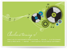 Records Birthday Party Invitations