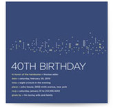 Night Lights Birthday Party Invitations