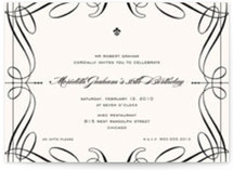 Opera Birthday Party Invitations