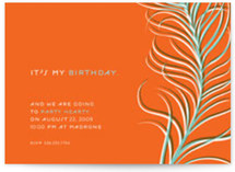 Party Hearty Birthday Party Invitations