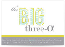 The Big One Birthday Party Invitations