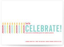 Colorful Candles Birthday Party Invitations