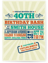 Old Blues Rock Birthday Party Invitations