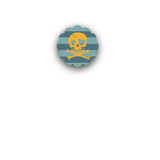 Pirate Party Closure Stickers