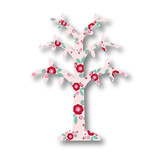 Retro Floral Garden Wishing Tree Centerpieces