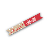 Pastoral Noel Flag Stickers