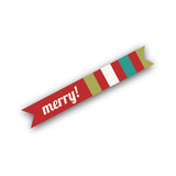 Happy Santa Flag Stickers