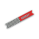 Vintage Race Car Flag Stickers