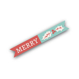Holiday Stripes Flag Stickers