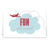 The Birthday Plane Party Greeting Signs